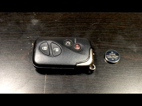 How To Change The Battery Lexus Remote Key Fob 2017