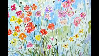 Spring Wildflower Paintings by Andrea de Kerpely-Zak in scottsdale
