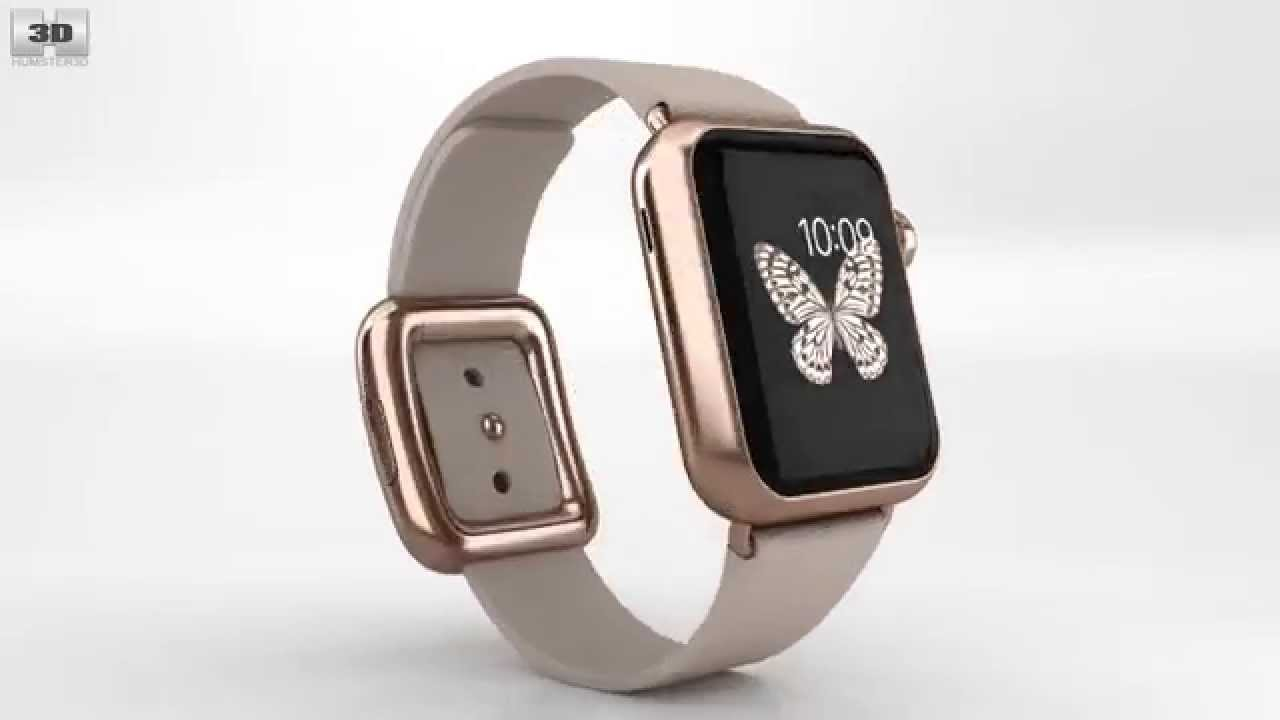san francisco e7ba8 4670b Apple Watch Edition 38mm Rose Gold Case Gray Modern Buckle by 3D model  store Humster3D.com