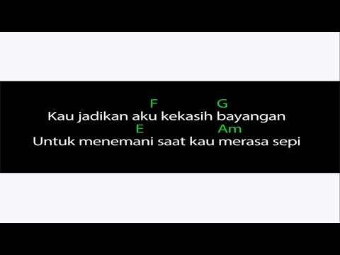Cakra Khan - Kekasih Bayangan (video chord dan lirik)