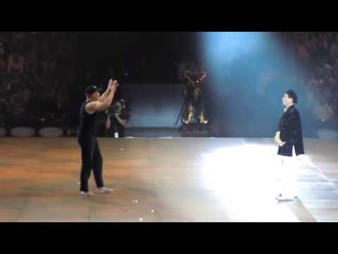 Jean Claude Van Damme and Bolo Yeng at Budo Gala Basel (2010