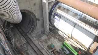 Crossrail   TBM Mary Launch Timelapse