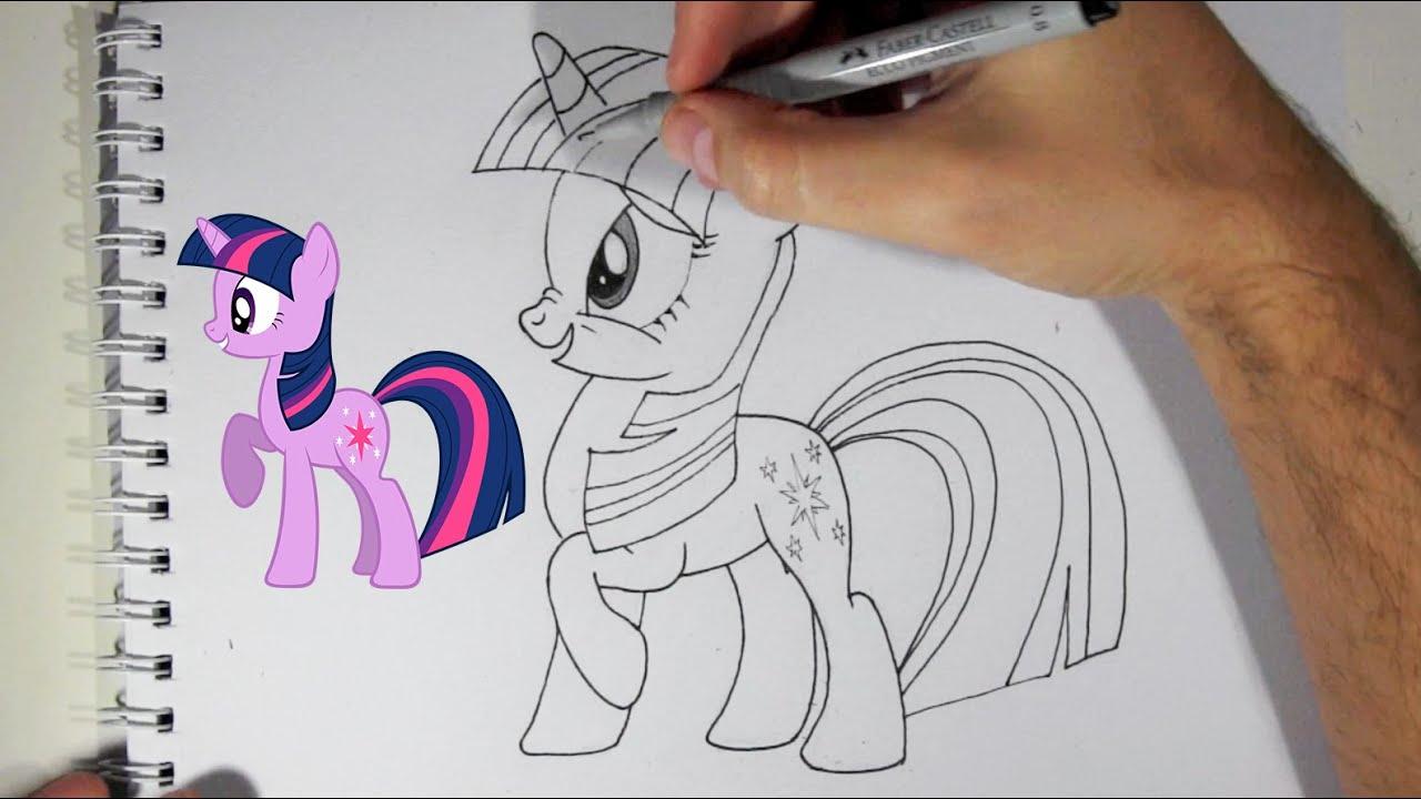 Comment dessiner twilight sparkle du dessin anim mon petit poney youtube - Dessin anime avec des poneys ...