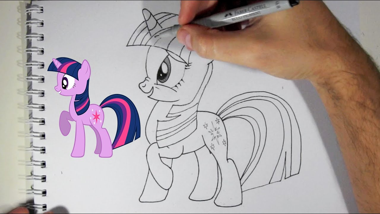 Comment dessiner twilight sparkle du dessin anim mon petit poney youtube - Pony dessin anime ...