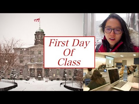 Vlog 12 - First Day of Class McGill University