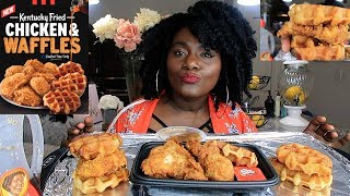 KFC CHICKEN AND WAFFLE MUKBANG |SHORT VERSION