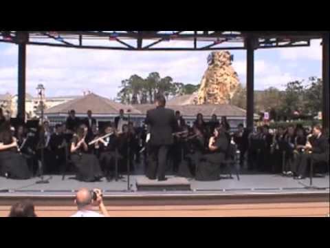 Lyndhurst HS Band -  Ashokan Farewell - Disney 2010