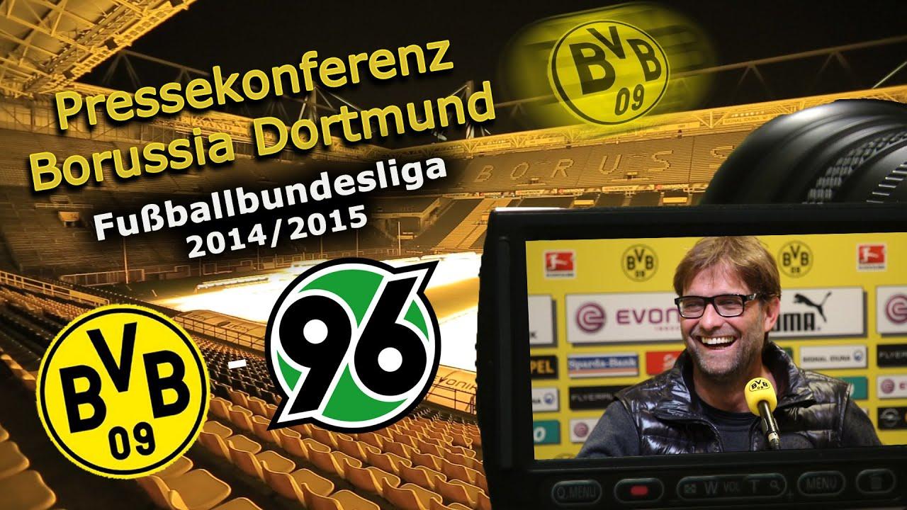 Borussia Dortmund - Hannover 96 : Bundesliga-Pk mit Jürgen Klopp