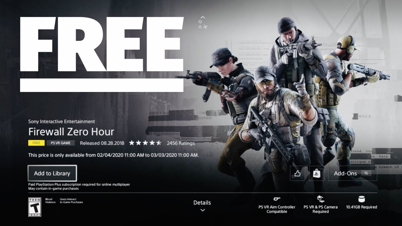 How To Download Firewall Zero Hour For Free On Ps4 Playstation Plus Free Game Youtube