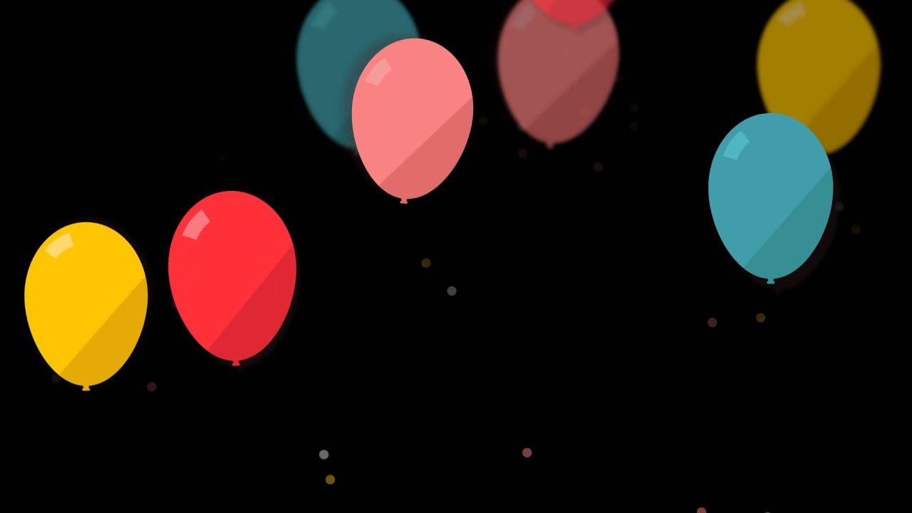 مؤثرات فيديو للمونتاج بالونات متحركه عاليه الدقه