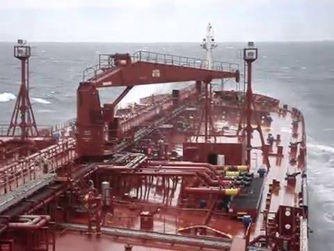 "Crude Oil Tanker ""OVERSEAS RUBYMAR"" #BadWeather in #ArgentinianWaters - 04th. November 2009"