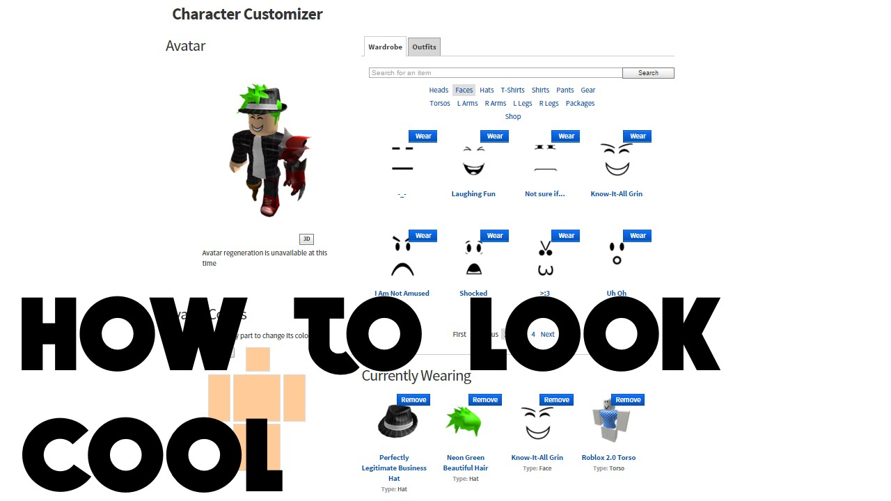 How To Make Your Roblox Character Cool 2016 Feb Youtube
