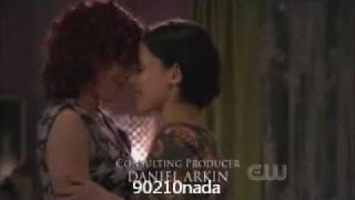 90210 season 2 episode 17 lesbian couple adrianna and gia kiss