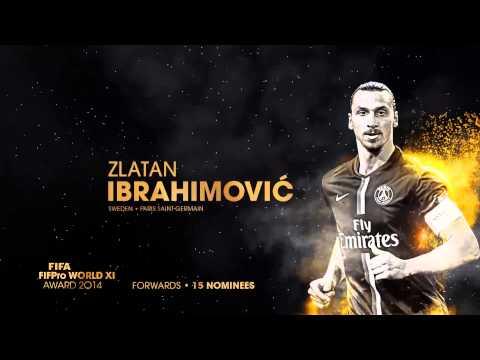 FIFA FIFPro World XI: Shortlist Forwards 2014
