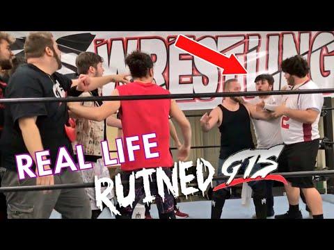 Real Life: Grim vs Brandon MELTDOWN RUINS GTS Wrestling MAIN EVENT!