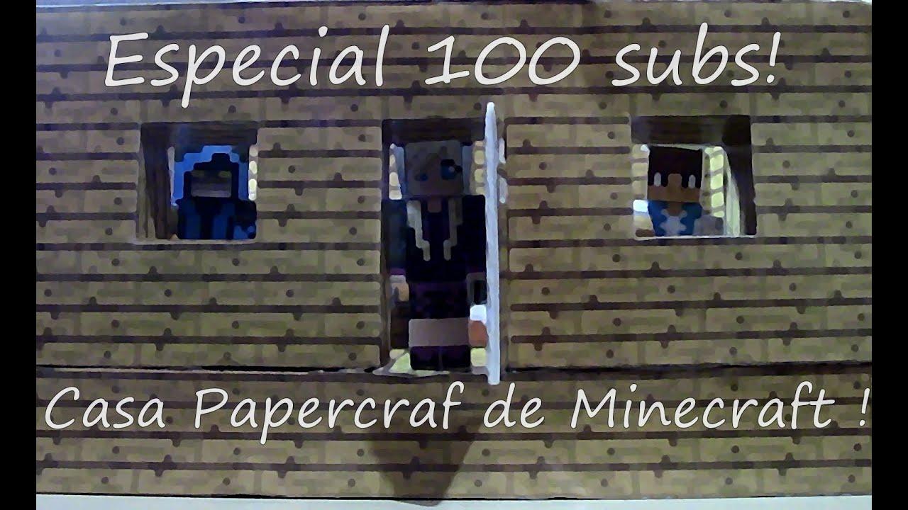 Papercraft Especial 100 Casa de minececraft papercraft !