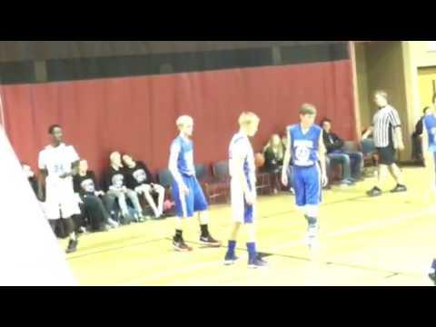 Gatnoor's boys with Eagle team (Sioux Falls Lutheran School) 1/7/17