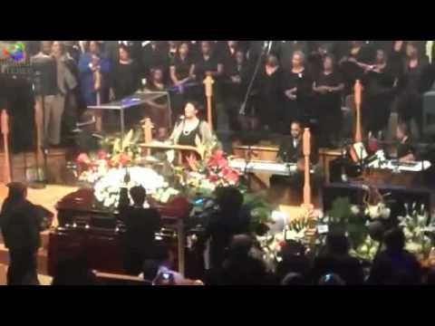 Aretha Franklin sings at the funeral of Albertina Walker