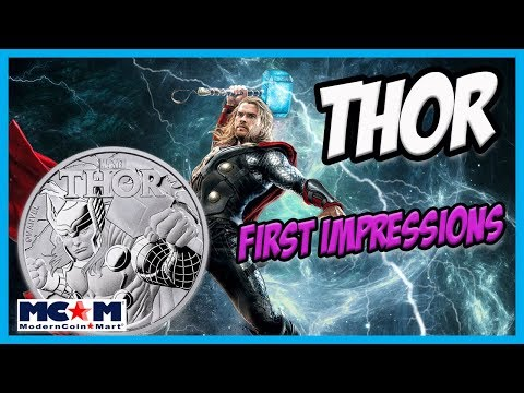 The 2018 Thor Tuvalu Silver Coin! Marvel Avengers 2nd coin released!