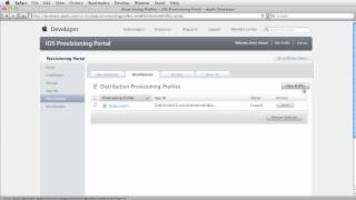 iOS: Creating an Ad Hoc Provisioning Profile and Distribution Certificate