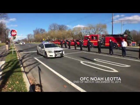 End of Watch - Officer Noah Leotta - Funeral Procession