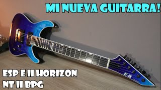 MI NUEVA GUITARRA! ESP E II Horizon NT II BPG | DEMO REVIEW