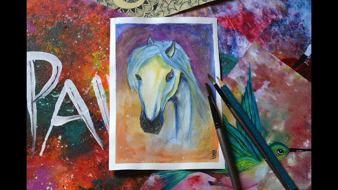 Easy Horse Painting For Beginners Simple Horse Painting Demonstration