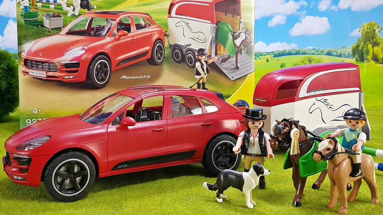 playmobil porsche macan gts suv mit pferdeanh nger 9376. Black Bedroom Furniture Sets. Home Design Ideas