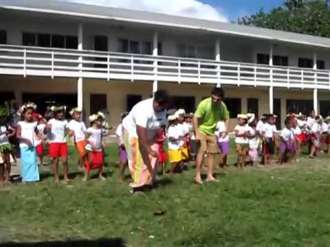 Eric Su's Waka Waka dancing in Nauti Primary School of Funafuti, Tuvalu