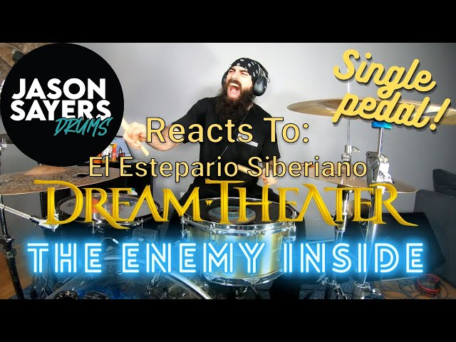 Drummer Reacts to El Estepario Siberiano - Dream Theater  - The Enemy Inside on a Single Pedal!