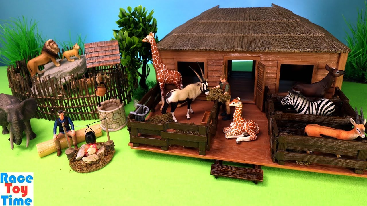 Schleich Safari Animal Nursery Playset And Fun Animals