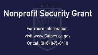 Nonprofit Security Grant
