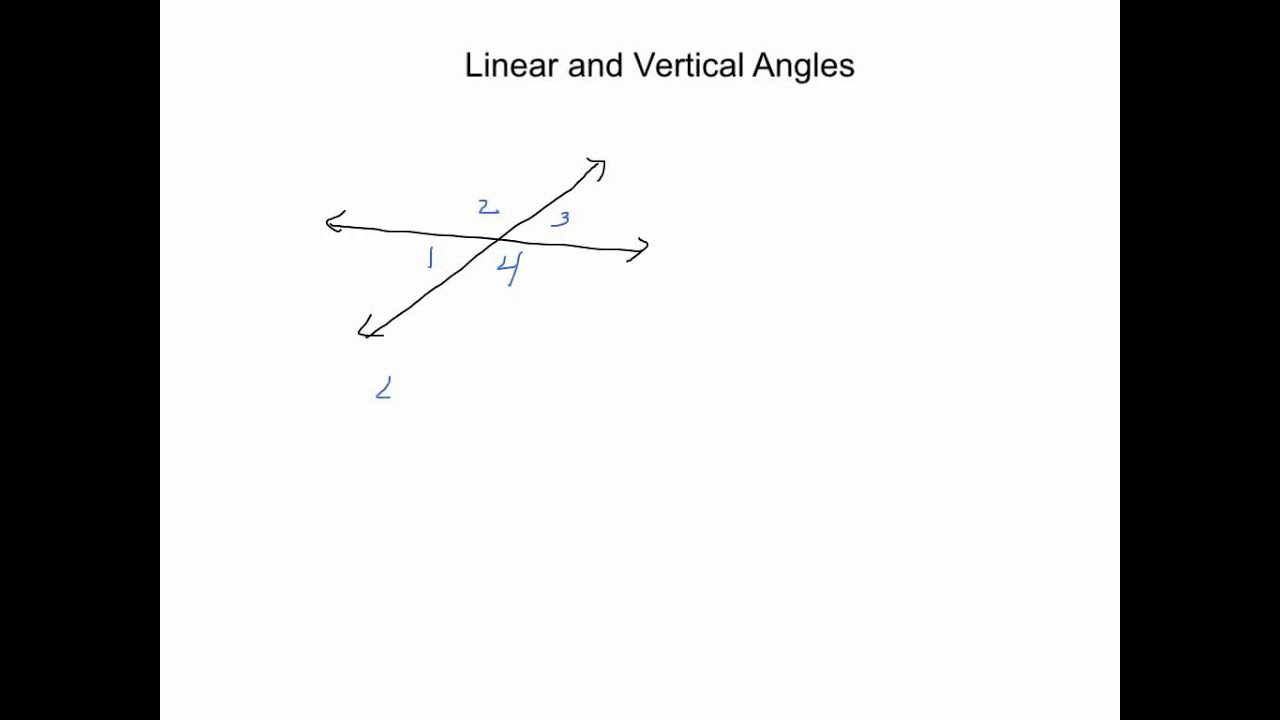Geometry: Linear and Vertical Angles - YouTube