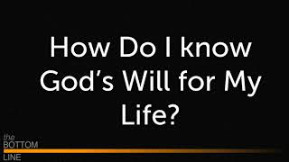 Knowing God's Will.