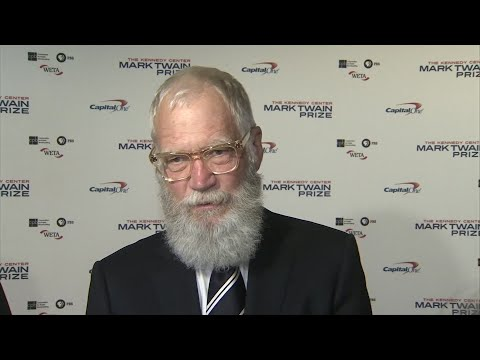 TV host Letterman honored with Mark Twain Prize