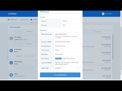 SEPA account Euro transfer to coinbase for buying bitcoin
