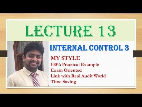 Internal Control Part 3| Internal Audit| Internal Check I IPCC Audit| Audit Amendment Nov 2017