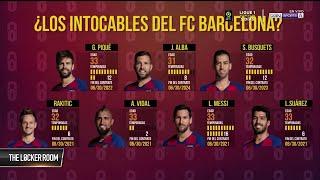Los jugadores que tambalearían en el Barça