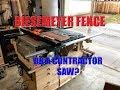 Custom Biesemeyer Fence Conversion  Ryobi BT3100 Contractor Saw Cart Station