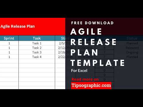 Agile Release Plan Template for Excel, Free Download 🡆   bit - release planning template