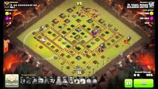 COC clan war 3 stars max TH11 lavaloon attack - No.1