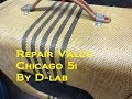 How to repair trace Tube guitar amp Noise Valco Chicago 51 by D-lab