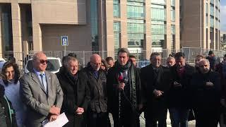 Eren Erdem'in tutuklanmasından sonra avukatları adliye önünde açıklama yaptı