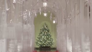 First lady unveils 2019 White House Christmas decorations