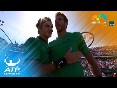 Federer beats Del Potro, Zverev & Kyrgios advance | Miami Open 2017 Highlights Day 6