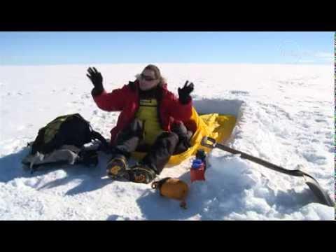 Sleeping on Antarctica's ice