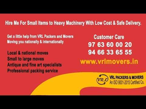 VRL Packers and Movers Pune Car Carrier & Household Services