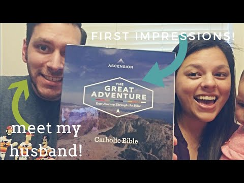 Great Adventure Bible Unboxing w/my Husband!