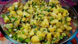 Картофельный салат для ежедневного приготовления!