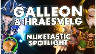 SUMMONERS WAR : Galleon & Hraesvelg - Nuke Spotlight (Water Pirate Captain & Wind Barbaric King)
